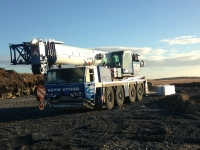 Faun ATF90G-4 Mobile Crane ready for work on a wind farm in Galway Ireland.