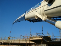 Faun ATF90G-4 Mobile Crane pouring concrete at its 'best'.